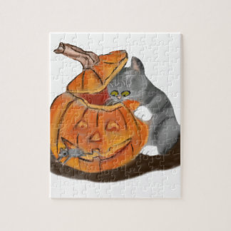 Mouse Hide and Seek in a Carved Pumpkin Puzzle