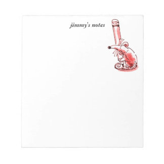 mouse holds big pencil cartoon customizable notepad