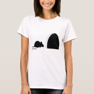 Mouse Hole Silhouette T-Shirt