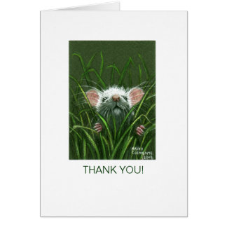 Mouse in Grass, THANK YOU! Card