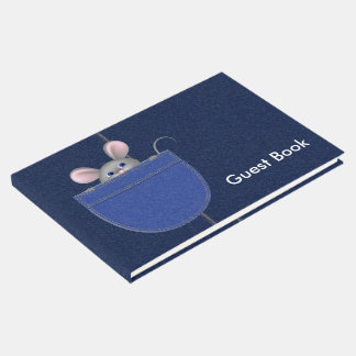 Mouse in Pocket Guest Book