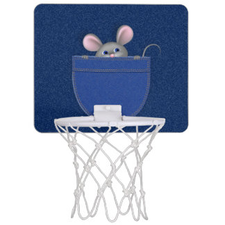 Mouse in Pocket Mini Basketball Hoop