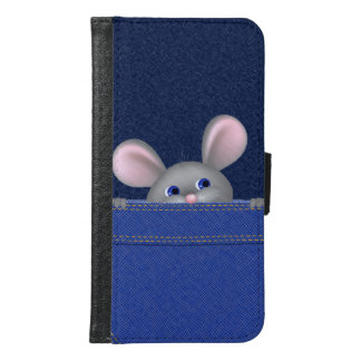 Mouse in Pocket Samsung Galaxy S6 Wallet Case