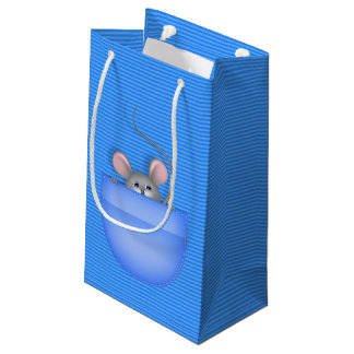 Mouse in Pocket Small Gift Bag