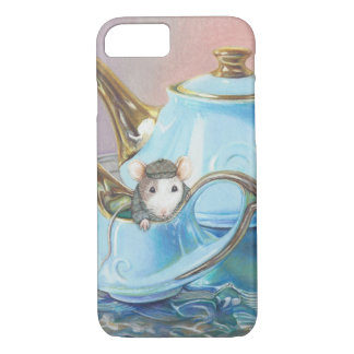 Mouse in the Tea Cup Vintage look art print iPhone 8/7 Case
