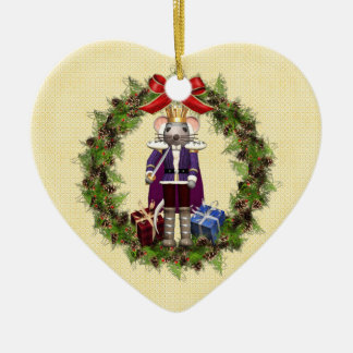 Mouse King Wreath Heart Ornament
