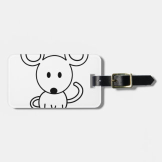 Mouse Luggage Tag