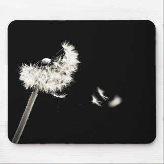 Mouse mat black and white dandelion