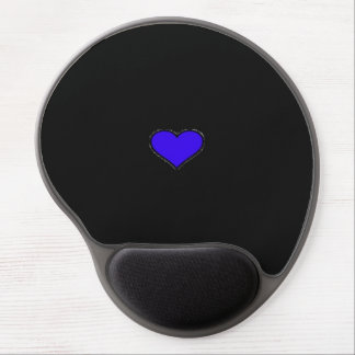 MOUSE MAT - BLUE HEART GEL MOUSE PAD
