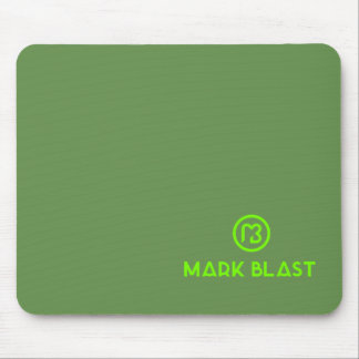 Mouse mat green traditional logo