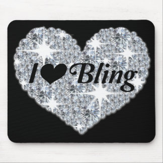 Mouse Mat - I love Bling collection