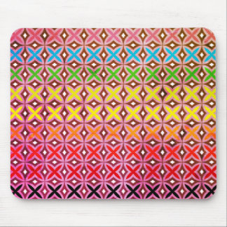 Mouse mat multicoloured reason cross abstract