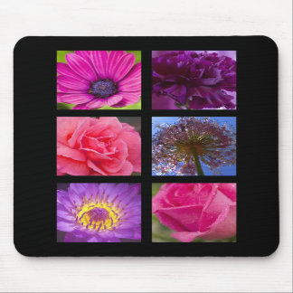 Mouse Mat - Pink Purple Flowers