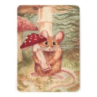 Mouse Mushroom Flat Card