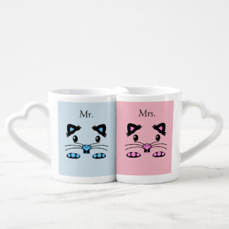 Mouse or hamster face cute couple mugs