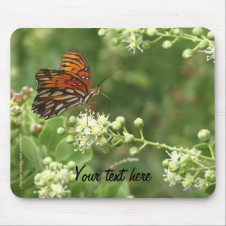 Mouse Pad Any Occasion Orange Butterfly