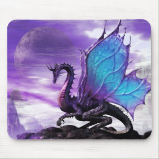 Mouse Pad Blue Winged Dragon Mousepad mat