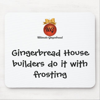 Mouse Pad - Gingerbread House builders
