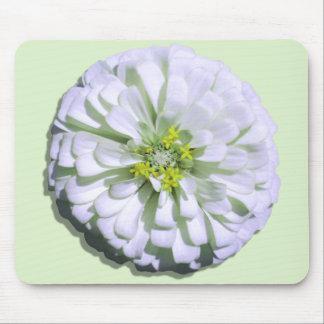 Mouse Pad - Lemony White Zinnia