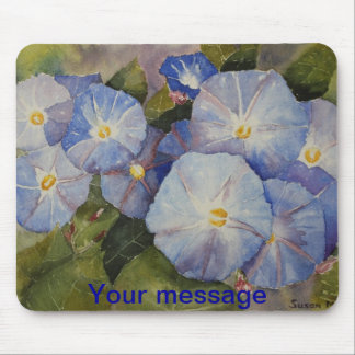 MOUSE PAD - Morning Glory Watercolour
