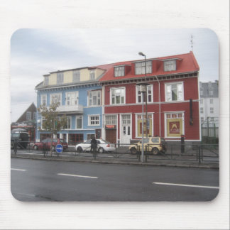 Mouse Pad / Mouse Mat With Reykjavik Buildings