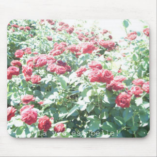 Mouse pad of rose