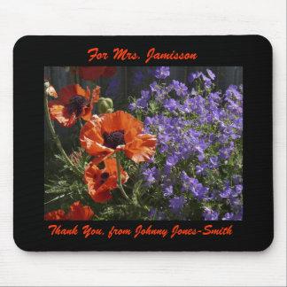 Mouse Pad Orange Poppies Teacher Thank You