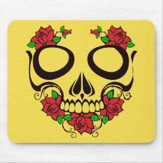 Mouse Pad Skull with Roses Unique