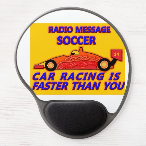 Mouse Pad: Soccer, Car Racing IS Faster Than You Gel Mouse Pads