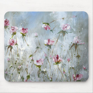 Mouse pad, vintage roses,