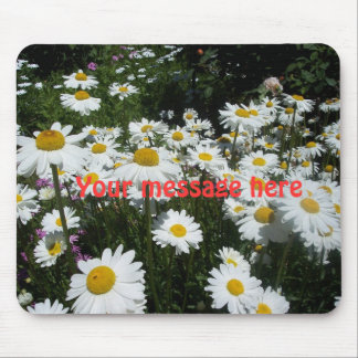 Mouse Pad White daisies
