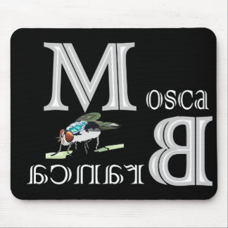mouse pad white fly