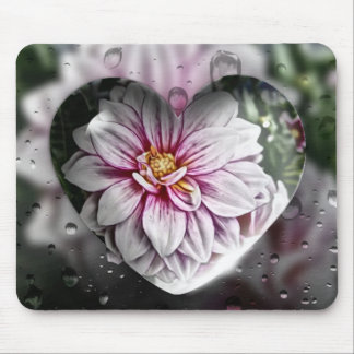 Mouse Pad with a digital Fantasy Flower Art Design