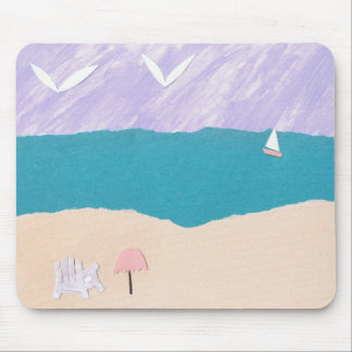 Mouse Pad with Beach Scene