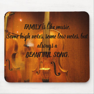 Mouse Pad with Cello Print