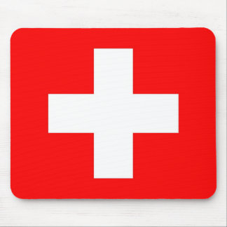 Mouse pad with Flag of Switzerland