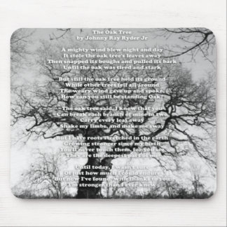 "Mouse Pad with ""Oak Tree Inspirational Message"""