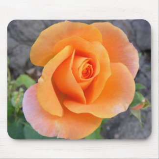 Mouse pad with orange rose