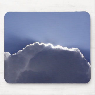 Mouse pad with photo of cloud with silver lining