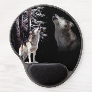 Mouse Pad Wolf howling Imagery of His Mate in Ski