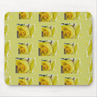 Mouse Pad Yellow Roses