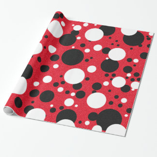 Mouse Party Celebration Polka-Dot Wrapping Paper