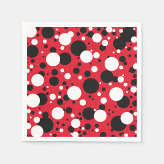Mouse Party Polka Dot Cocktail Napkins Paper Napkin