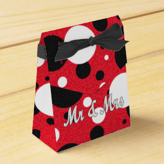 Mouse Party Wedding Mr & Mrs Shimmer Favor Boxes Party Favour Box