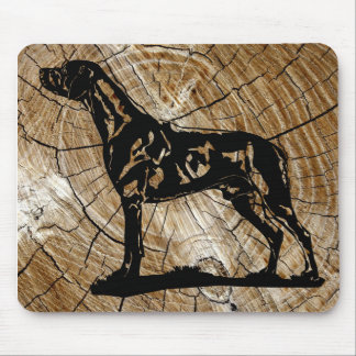 Mouse path Rhodesian Ridgeback Wood Mouse Pad