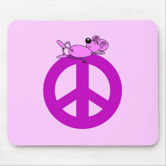 Mouse peace symbol mouse pad