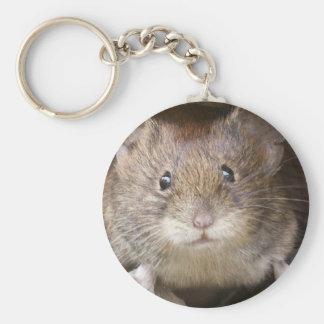 Mouse Portrait Basic Round Button Key Ring