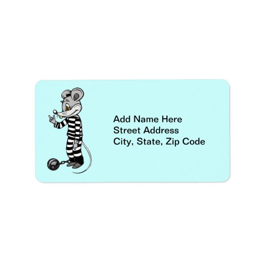 Mouse Prisoner Address Label