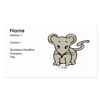 Mouse Profile Card Business Cards