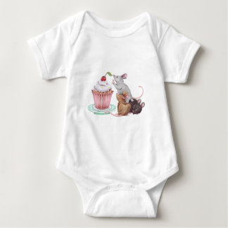 Mouse pyramid baby bodysuit